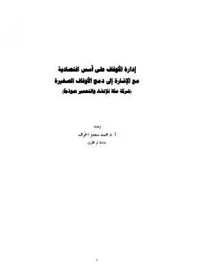 دمج الأوقاف الصغيرة أ.د.محمد الجرف